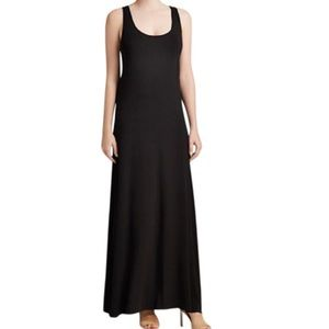 Vince 100% Cotton Racerback Maxi Dress Navy